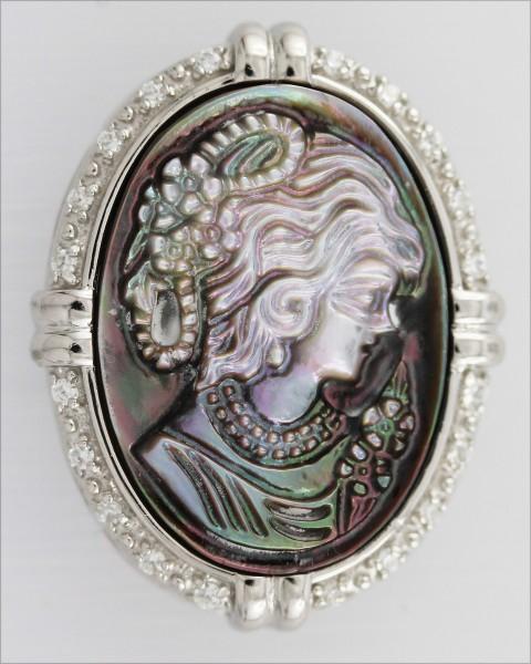 Gemmeanhänger Sterling Silber 925 rhodi...