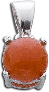 Kettenanhänger Sterling Silber 925 rhodiniert brauner Mondstein