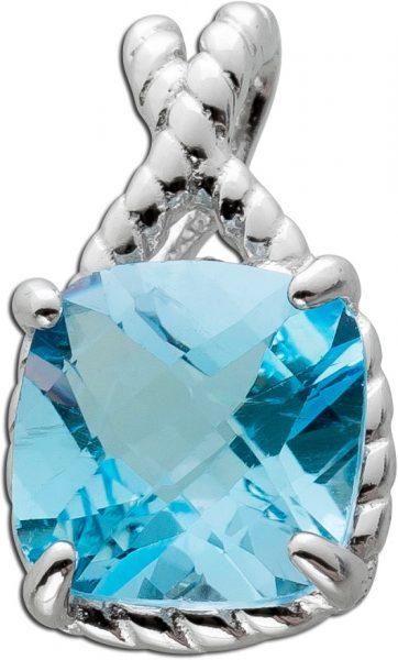 Kettenanhänger Blautopas Anhänger Silber 925