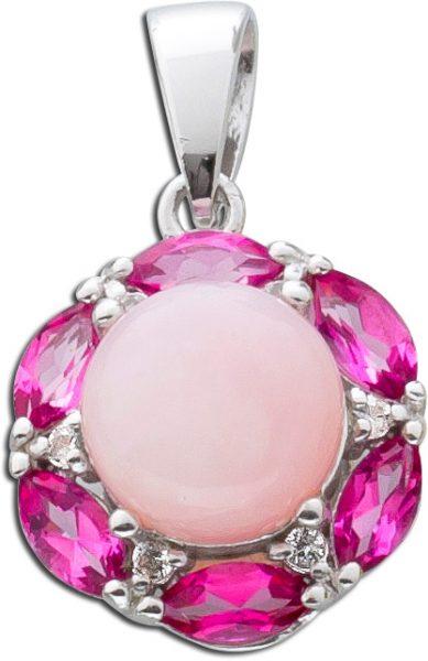 Anhänger Sterling Silber 925 rosa Opale...