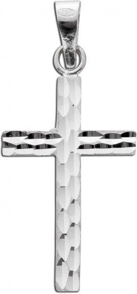 KettenAnhänger Kreuz Sterling Schmuckanhänger Kreuz Lapponia look Silber 925 diamantiert