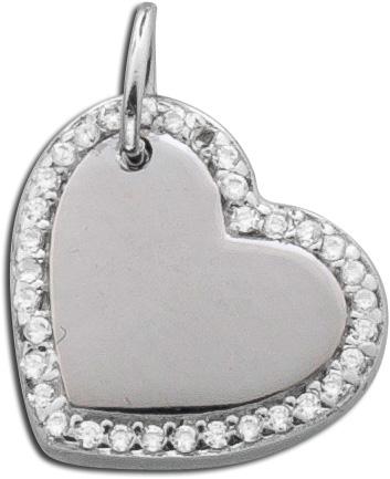 Kettenanhänger Herz Silber 925 Zirkonia