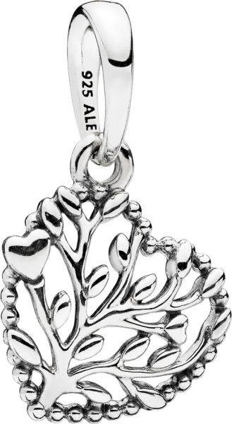 PANDORA SALE Charm Anhänger 797140 Flourishing Hearts Sterling Silber 925 Herz Lebensbaum Optik