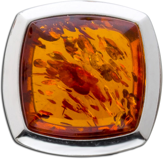 Bernstein Anhänger Braun gelb Orange Sterling Silber 92 Cabochon  Natur echt