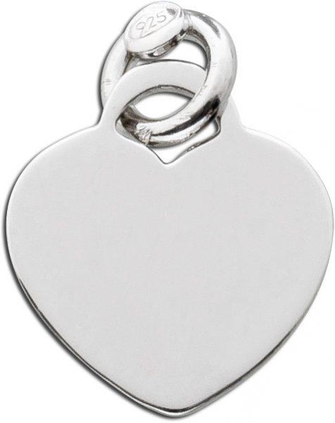 Herz Anhänger Sterling Silber 925 poliert Gravuranhänger