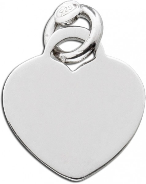 Herz Anhänger Sterling Silber 925 polie...