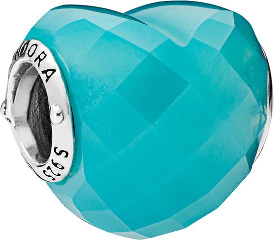PANDORA SALE Charm 796563NSC Blue Shape ...