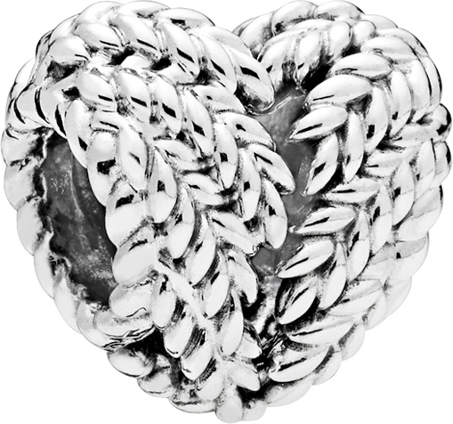 PANDORA Charm 797618 Icon of Nature Silber 925 Herz Blätter Zweige