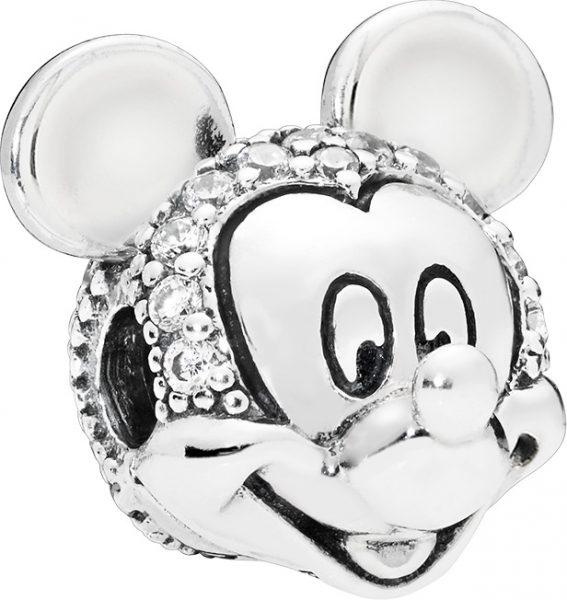 PANDORA Disney Clip Charm 797495CZ Silber 925 Shimmering Mickey Portrait