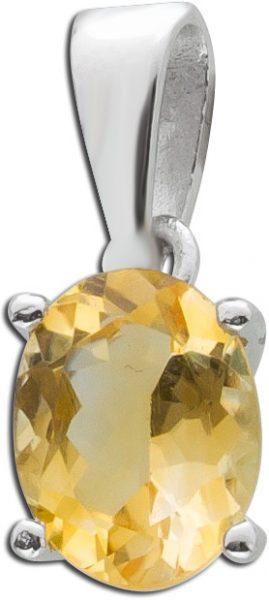 Edelstein gelb Anhänger Silber 925 Citrin Kettenanhänger Damenschmuck