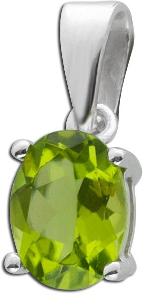 Edelstein grün Anhänger Silber 925 Peridot Edelstein Silberschmuck