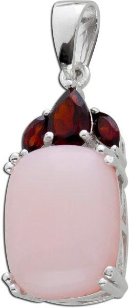Anhänger Silber 925 Edelstein Opal pink Granat rot braun Kettenanhänger