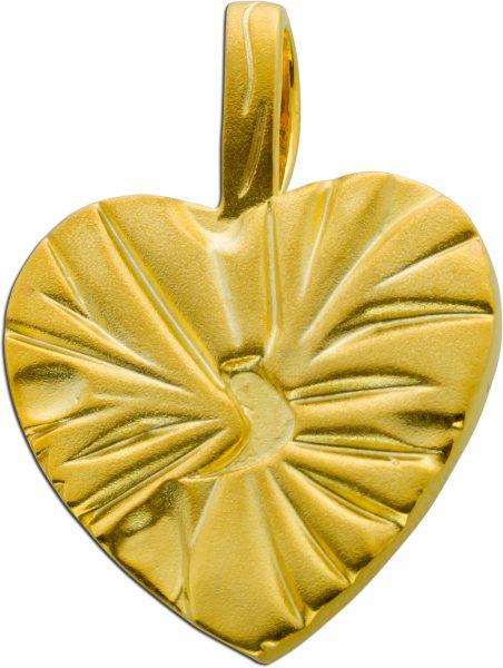 Herzschmuck Herz Anhänger Silber 925 gold farben 35x26mm