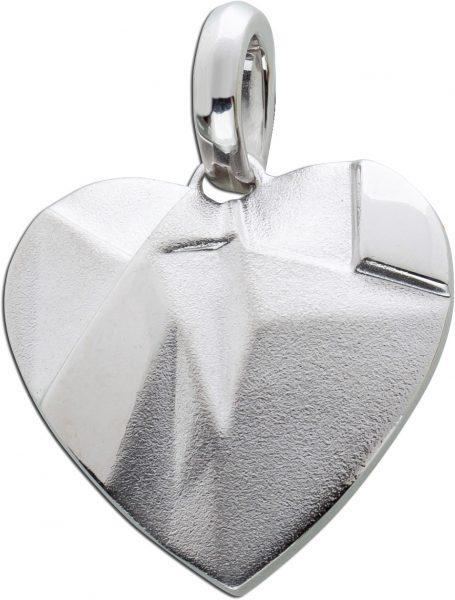 Herz Anhänger Herzschmuck Silber 925 Designschmuck 33x25mm