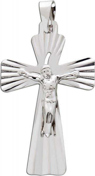 Kreuzanhänger Silber 925 poliert Glaubensymbol Kettenanhänger Unisex