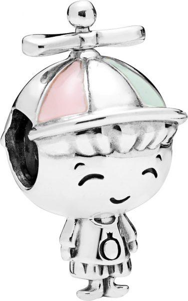 PANDORA Charm 798015ENMX Propeller Hat Boy