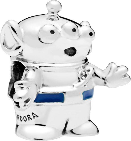 PANDORA Disney Charm 798045EN82 Disney Pixar Toy Story Alien Silber blauer Emaille  Alien