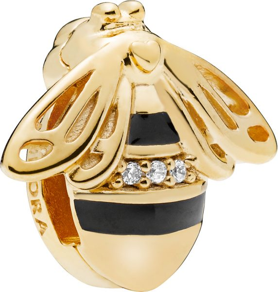 PANDORA REFLEXIONS Clip Charm Queen Bee Bienenkönigin  SHINE 768711C01 Metall vergoldet 18kt  767862EN16