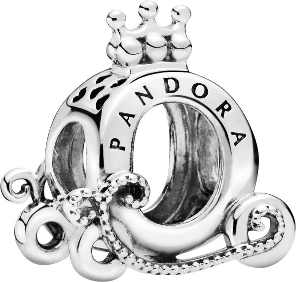 PANDORA Sale Charm 798323 Polished Crown O Carriage Sterling Silber Kutsche