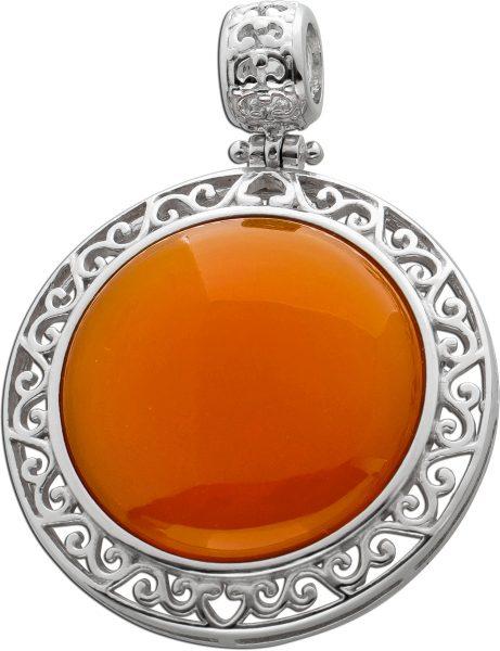 Anhänger Carneol orange Silber 925 Edelsteinschmuck
