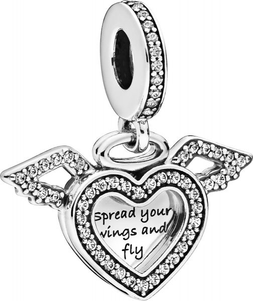 Pandora Charm Anhänger 798485C01 Heart and Angel Wings