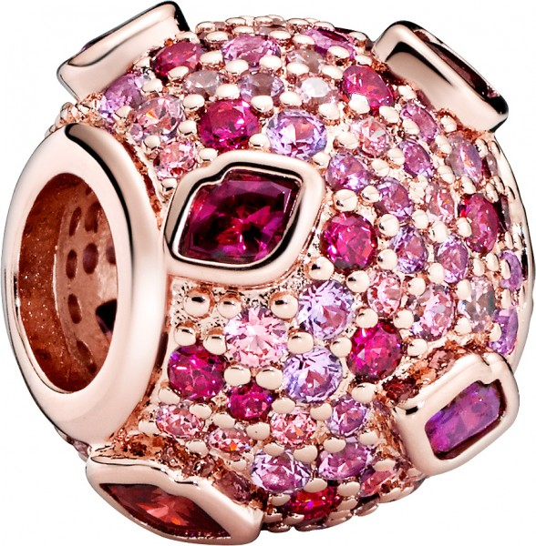 Pandora Charm 788702C01 Rose Kiss Pave rot pink Zirkonia pink synthetischer Saphire