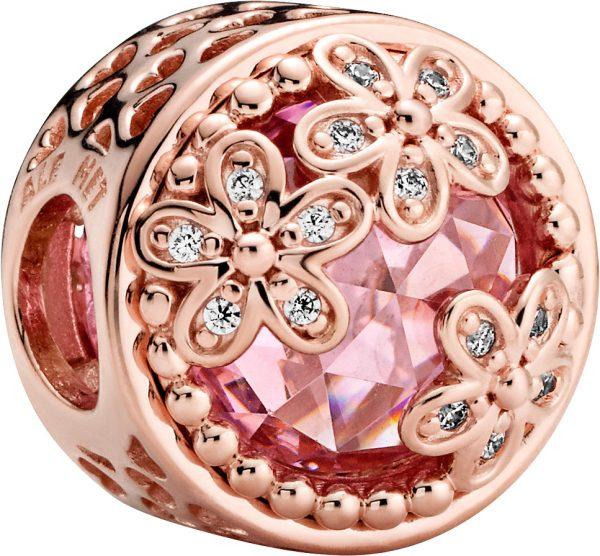 Pandora Garden Charm 782055C01 Sparkling Pink Daisy Flower Rose Pink Klare Zirkonia