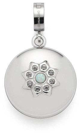 Leonardo Darlins Anhänger Azura Clip Und Mix 017975 Edelstahl Glaskristall Synthetisch Opal Cabochon