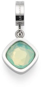 Leonardo Darlins Anhänger Lorena Clip Und Mix 017980 Edelstahl Mint Aquamarin Glaskristall