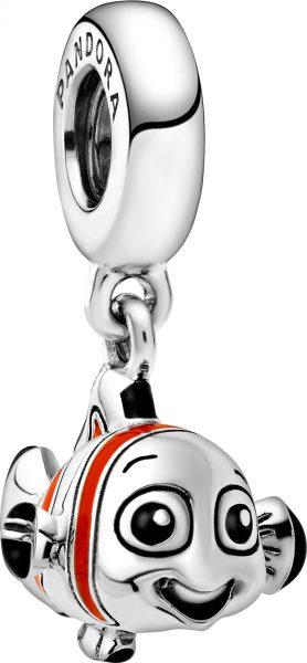 Pandora Disney Charm Anhänger 798847C01 Disney Finding Nemo Silber 925 Schwarz Orange Emaille