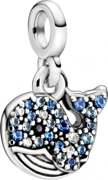 Pandora Me Charm Anhänger 798972C01 My Blue Whale Silber 925 Klare Zirkonia Blaue Kristalle