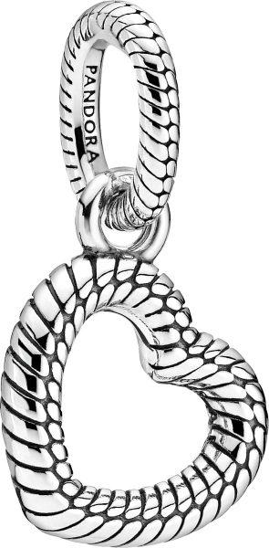 Pandora Icons Anhänger 399094C00 Snake Chain Pattern Heart Silber 925