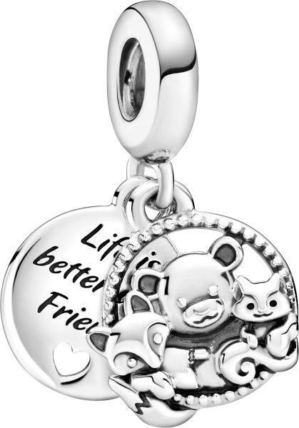 Pandora Passion Charm Anhänger 799078C00 Forest Friends Silber 925