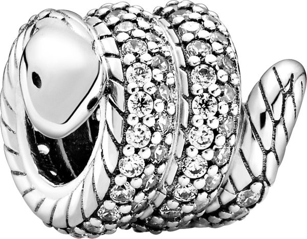 Pandora People Charm 799099C01 Sparkling Wrapped Snake Silber925 Klare Zirkonia