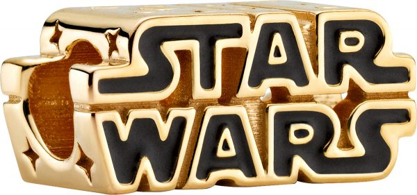 Pandora x Disney Star Wars Charm 769247C01 Star Wars Shining 3D Logo Shine Schwarze Emaille