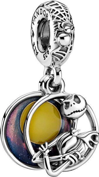 Pandora x Disney Charm Anhänger 799148C01 Silber 925 Night Before Christmas Blaue Gelbe Emaille