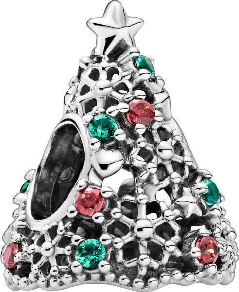 Pandora Charm 799226C01 Glitter Christmas Tree Silber 925 red cubic zirconia aquagreen crystal