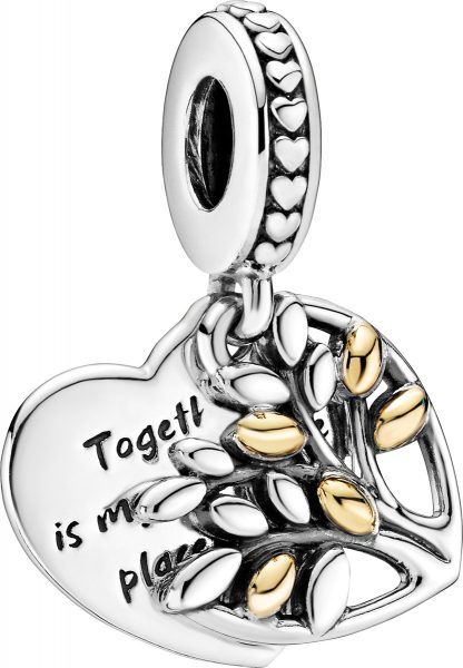 Pandora Charm Anhänger 799161C00 Family Tree Silber 925 14kt Gold