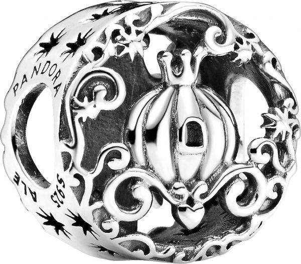Pandora Disney 799197C00 Cinderella Clock Pumpkin Coach Silber 925 Charm