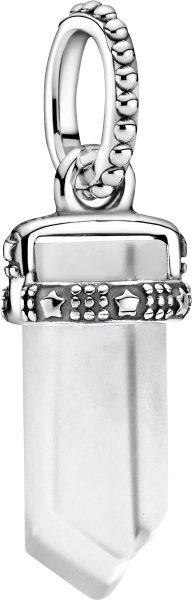 Pandora Colours Pendent Only Anhänger 399185C03 White Amulet Silber 925  Weiß Kristall