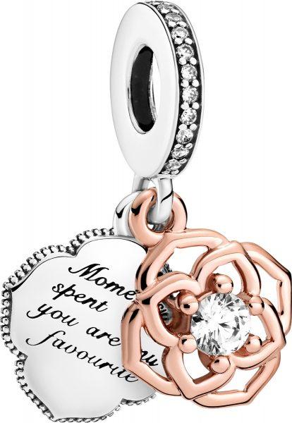 Pandora Timeless Charm 789373C01 Two-tone Rose Silber 925 Rose Metall Klare Zirkonia Emaille