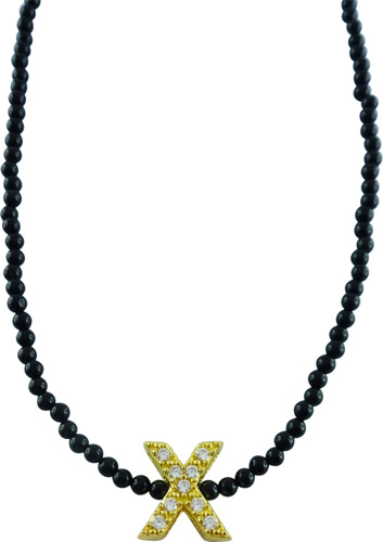 Collier in Silber Sterlingsilber 925/- mit Onyx