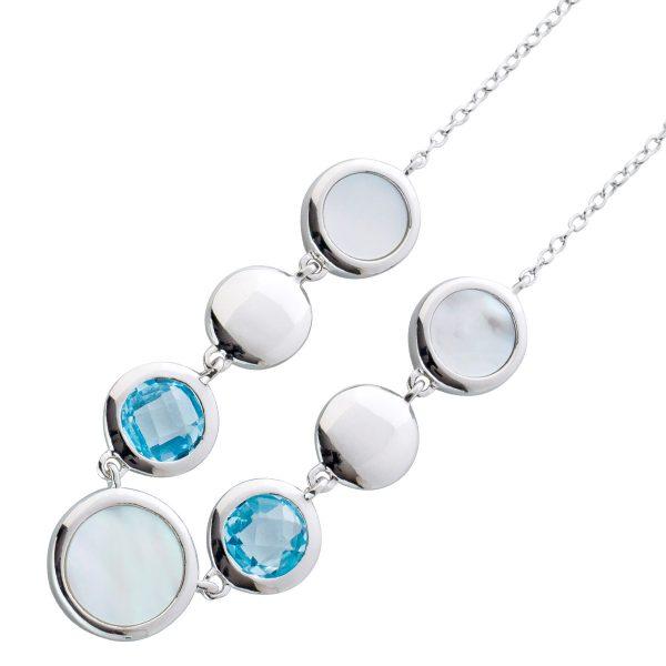 Halskette Sterling Silber 925 Perlmutt B...