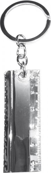 Crystal Blue Schluesselanhänger Metall,...