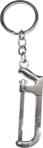 Crystal Blue Schlüsselanhänger Säge Metall, Länge 12cm
