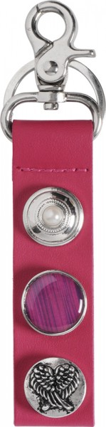 Crystal Blue Schlüsselanhänger Taschenanhänger Metallkarabiner Buttons
