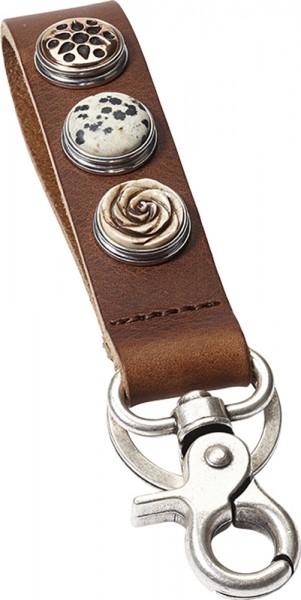 NOOSA-Amsterdam-Schlüsselanhänger KCS-4001-2 Midbrown