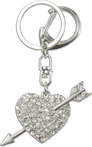 Crystal Blue Schlüsselanhänger Herz mit Pfeil