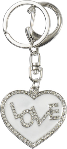 Crystal Blue Schlüsselanhänger Herz Love