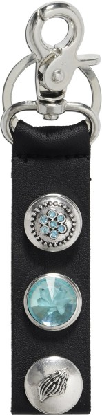 Crystal Blue Schlüsselanhänger Taschenanhänger Butt On schwarz